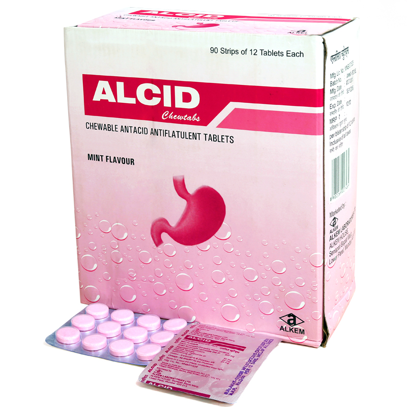 ALCID CHEWTABS MINT TABLET