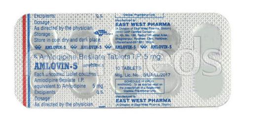 Amlovin 5mg Tablet