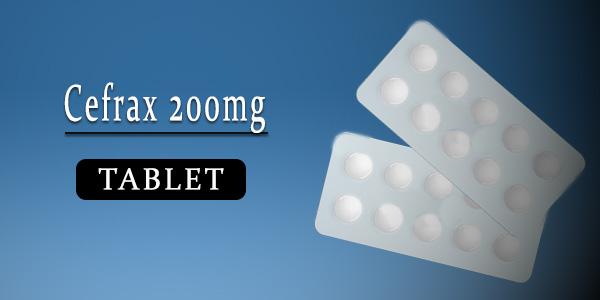 Cefrax 200mg Tablet